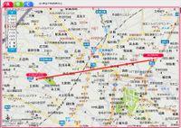 Map_distance_higashiyama_mameda_han